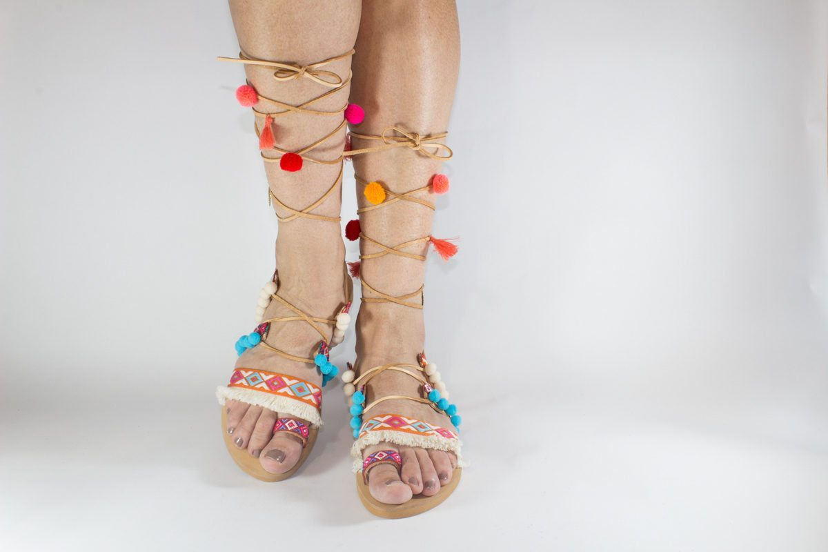 "Handmade Sandals ""Sappho"""
