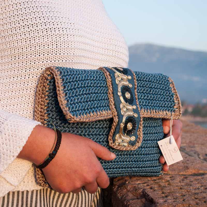 Blue-Handbag,Bohemian-Style