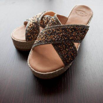 Sandals Platform Heels with Strass