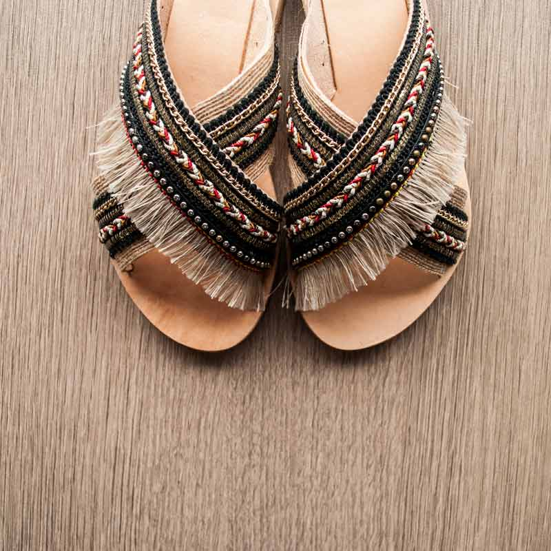 "Handmade Leather Sandals ""Anaxos"""