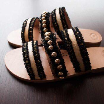 """Night Leather Sandals """"Melinoe"""""""