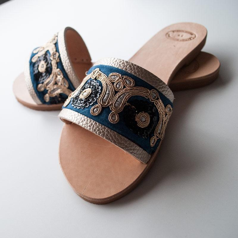"""Ethnic Leather Sandals """"Mythimna"""""""