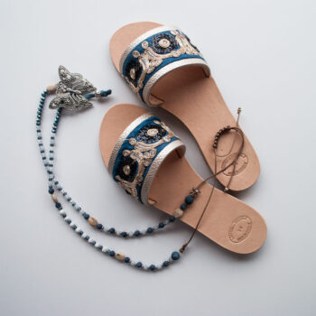 "Ethnic Leather Sandals ""Mythimna"""