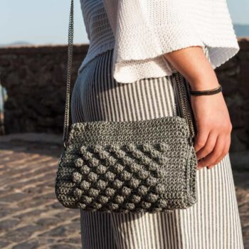 Handcrafted-Handbag,Grey-Color