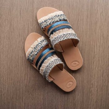 Handmade Flat Sandals , Leather Sandals -chara