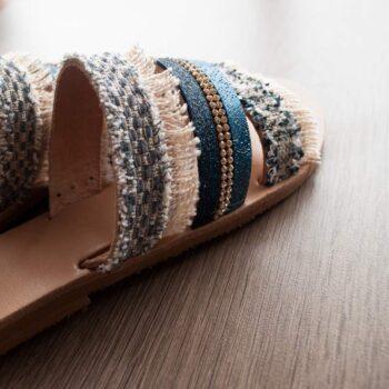 Handmade Flat Sandals , Leather Sandals -chara-main