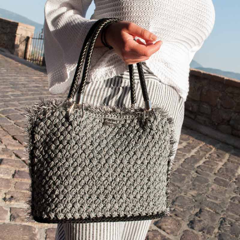 Handmade Luxury Bag Grey