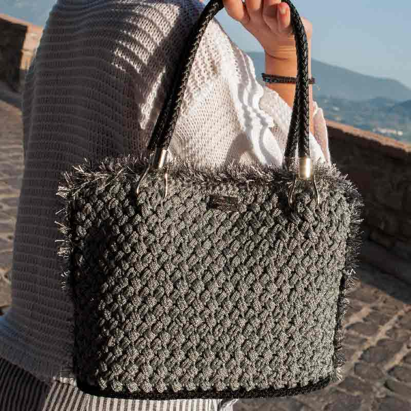 Handmade Luxury Bag Grey-main