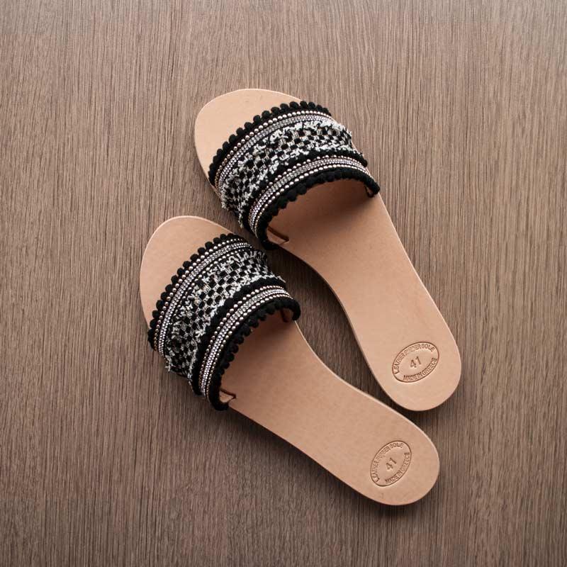 "Handmade sandals,Flat sandals,Leather sandals ""Daphne"""