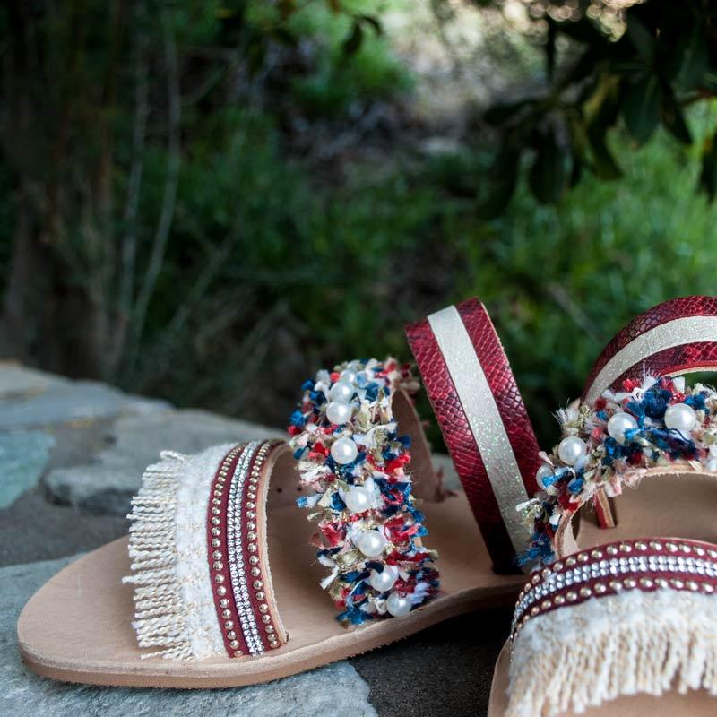 "Handmade Sandals ""Rhodanthe"""