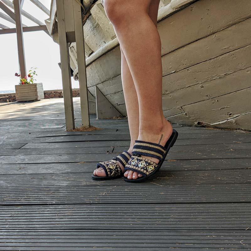 Σανδάλι-Γυναικείο-Clio-promo1-Sandals μαυρα σανδαλια δερματινα