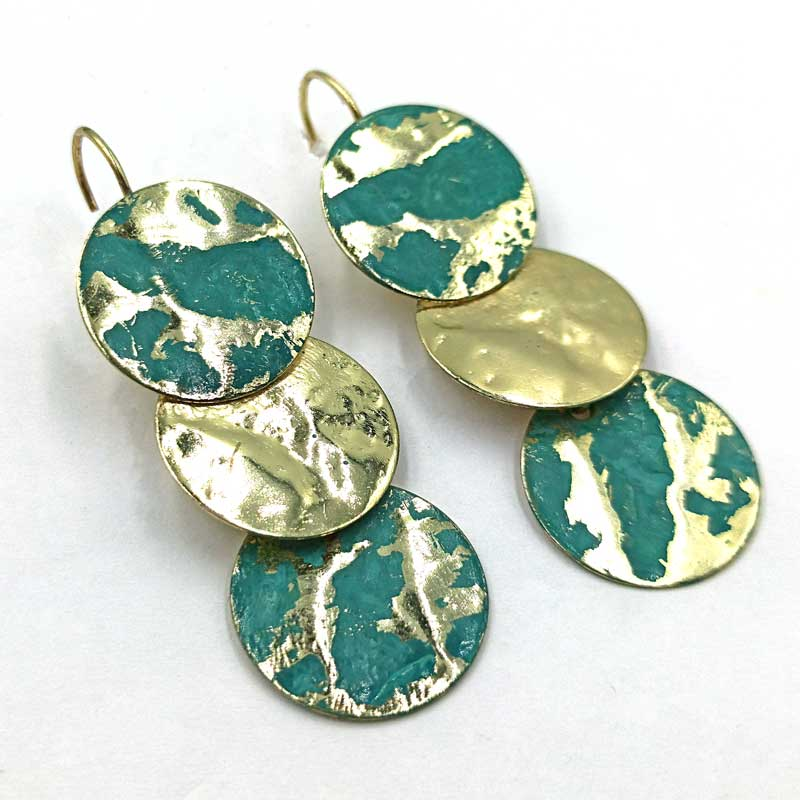 Σκουλαρίκια Χρυσά Μεταλλικά