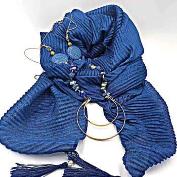 Φουλάρι Μπλε Ηλεκτρίκ 1