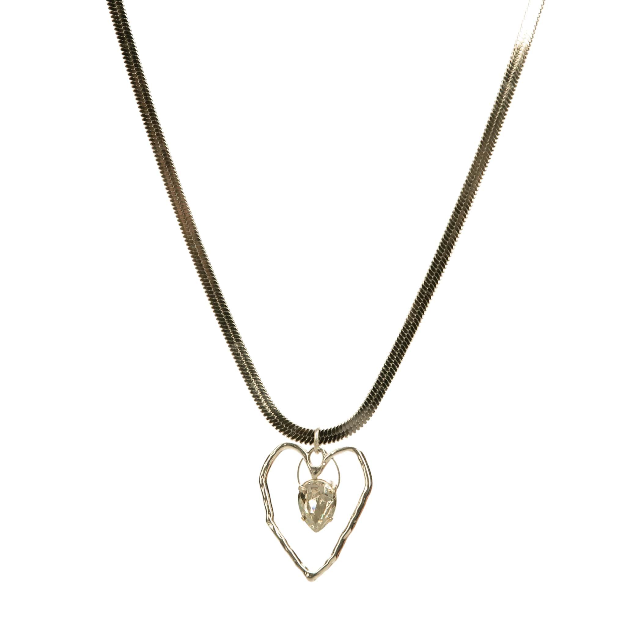 Swarovski Κολιέ με Κρύσταλο Μέσα σε Καρδιά