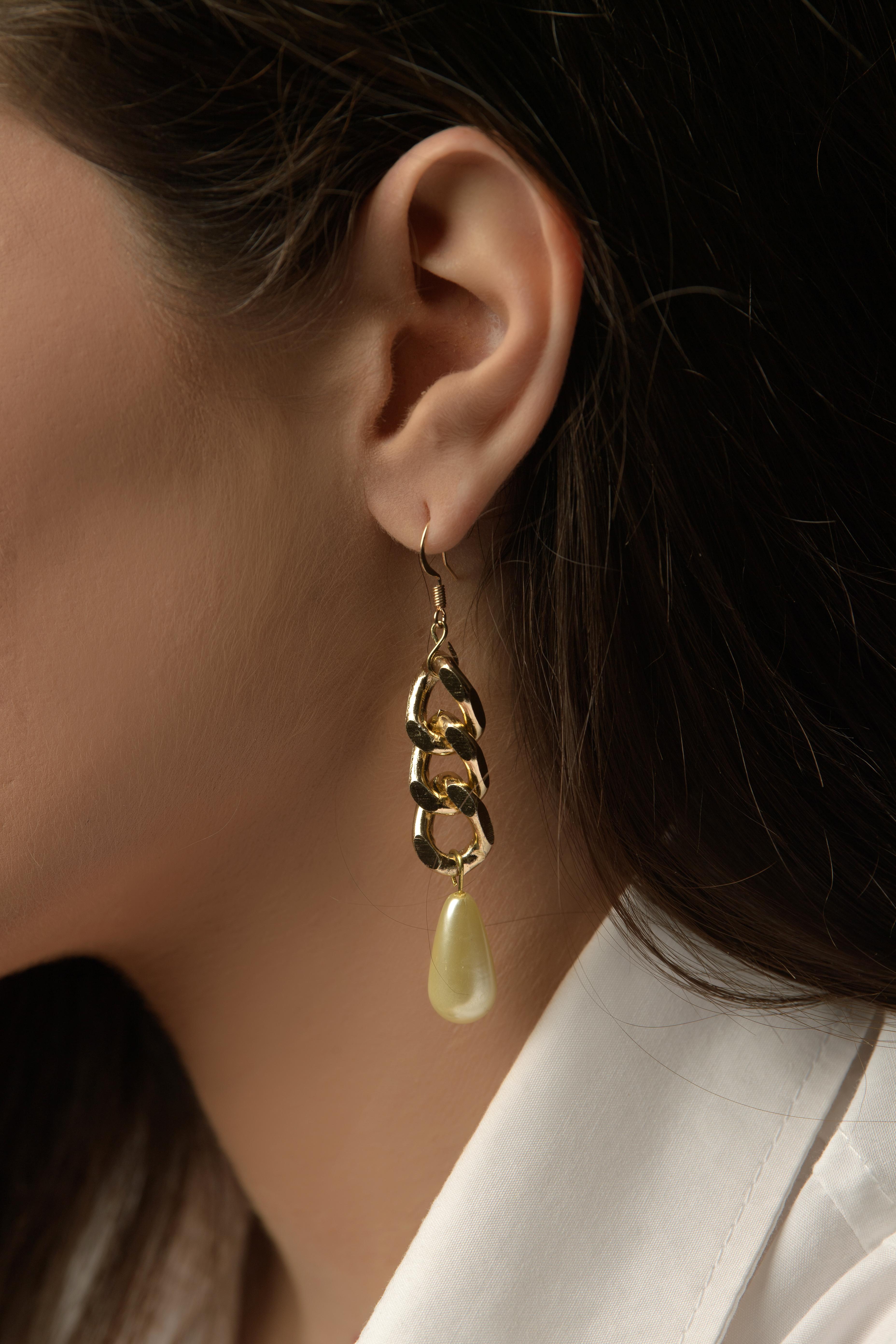 Σκουλαρίκια Κρεμαστά Αλυσίδα