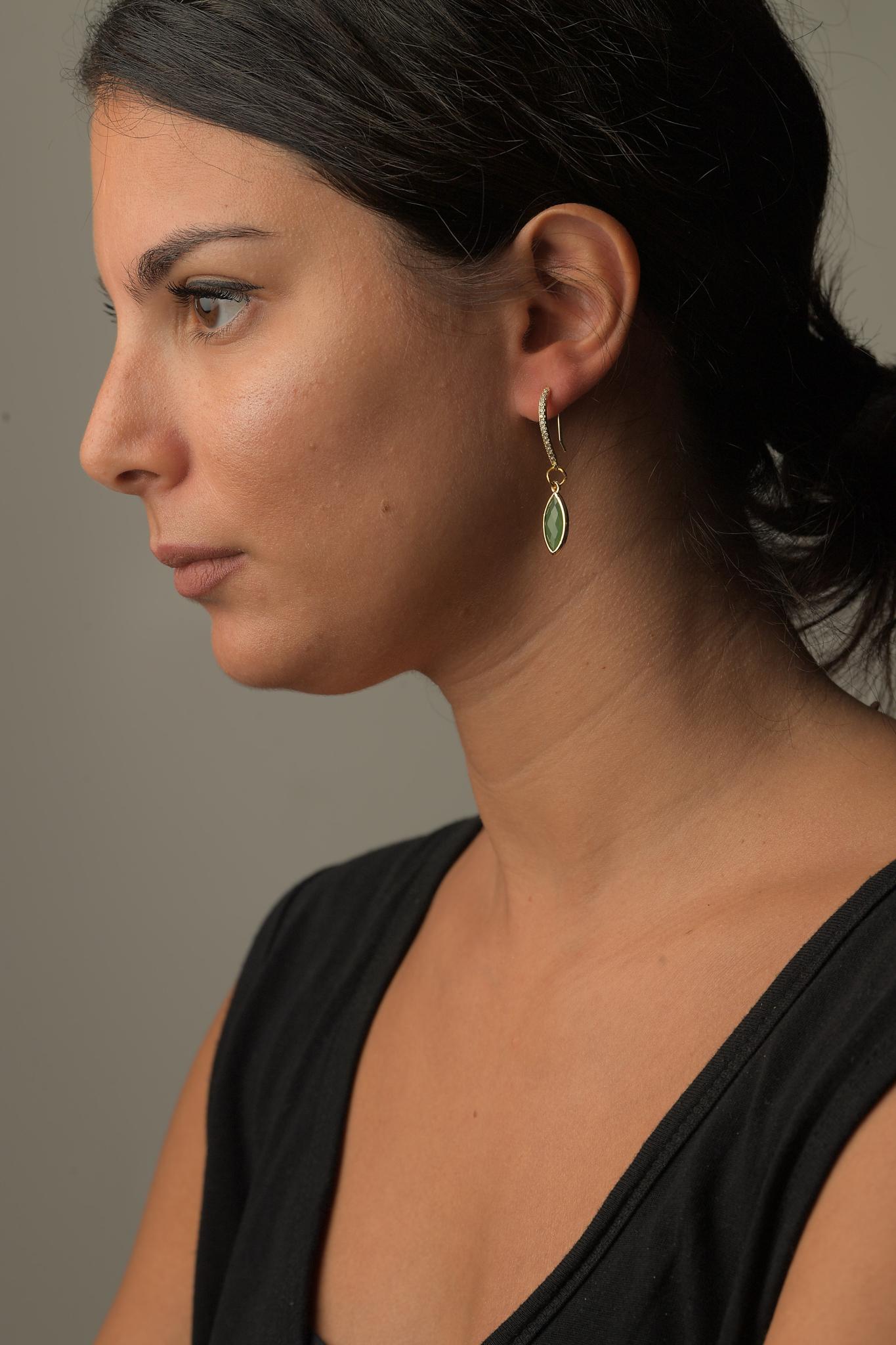 Σκουλαρίκια Κρεμαστά Γυάλινα