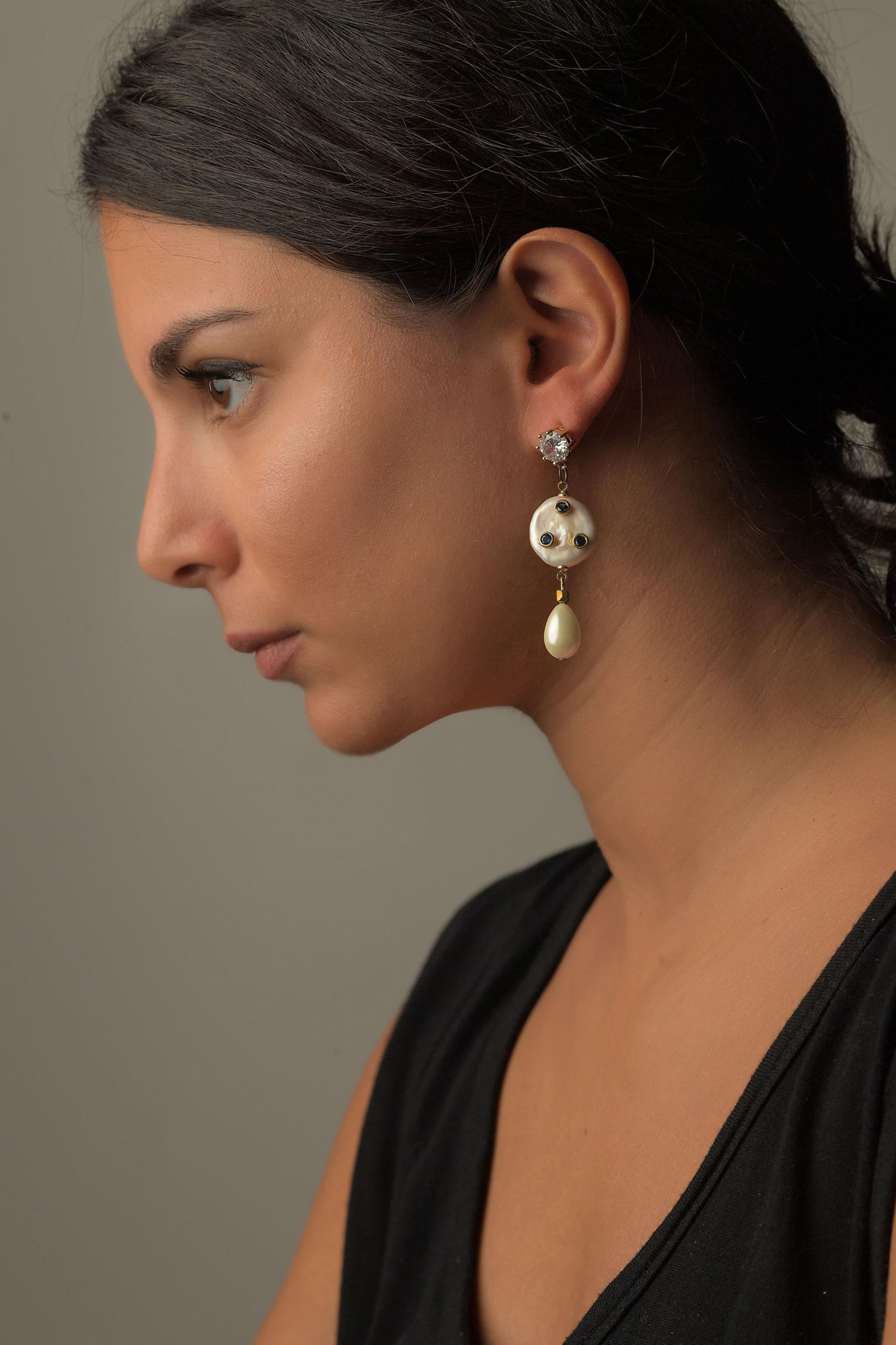 Καρφωτά Σκουλαρίκια Μαργαριτάρι1
