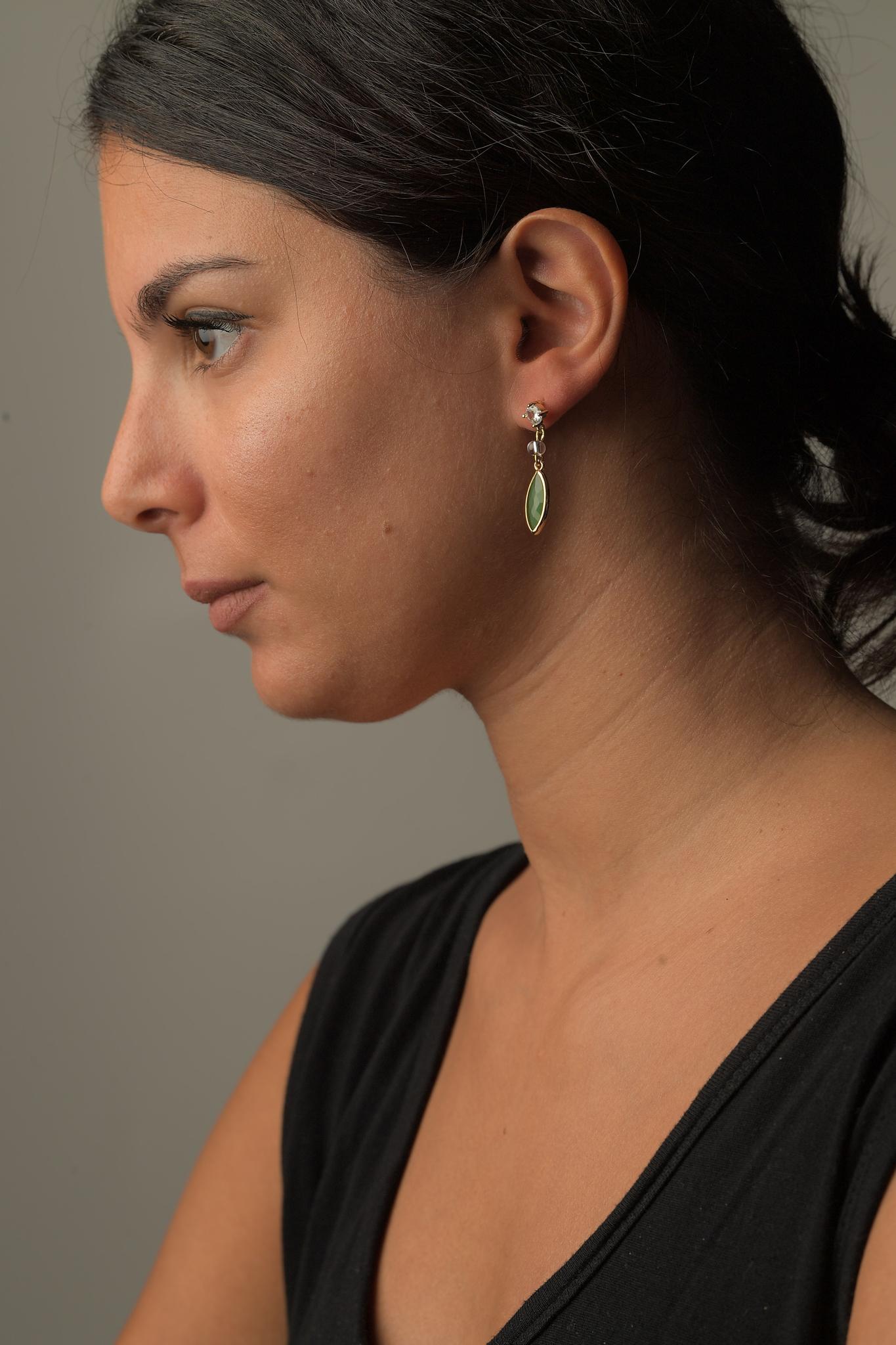 Σκουλαρίκια Γυάλινη Σταγόνα