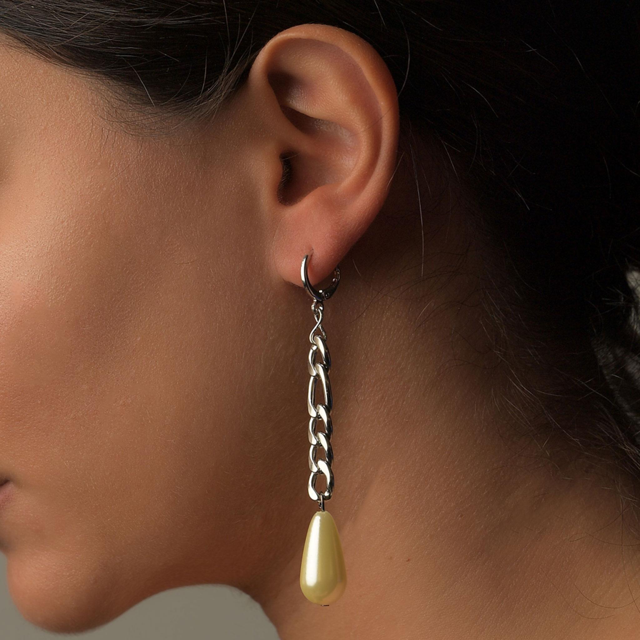 Σκουλαρίκια Κρεμαστά Αλυσίδα2