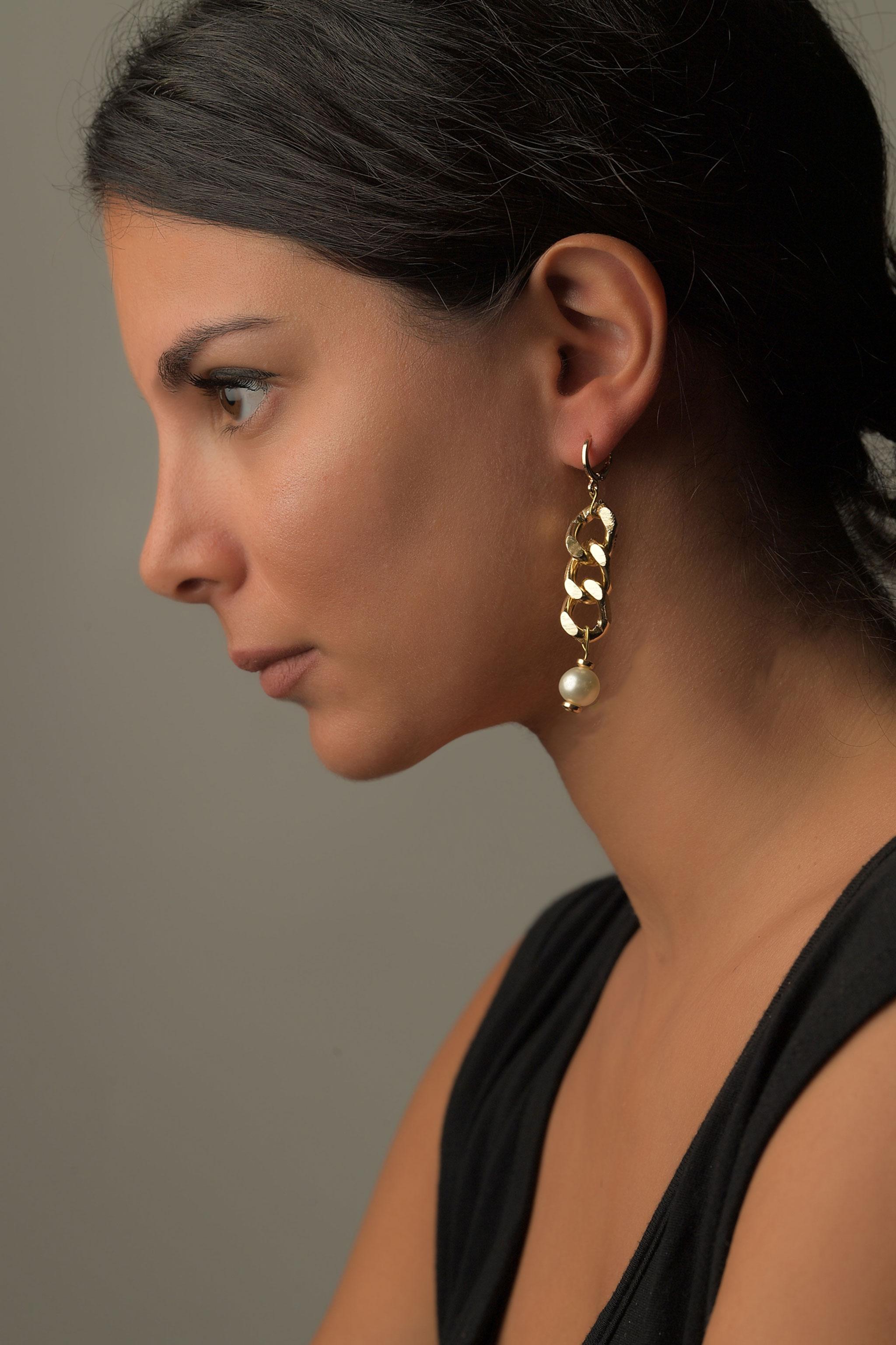 Σκουλαρίκια Κρεμαστά Αλυσίδα1