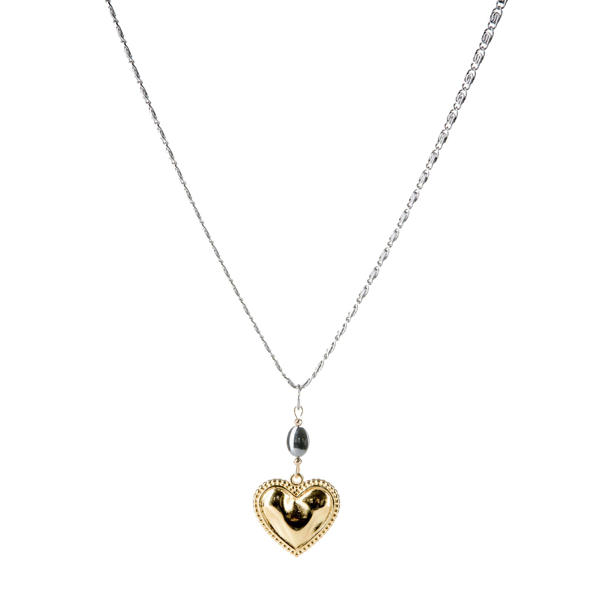 Κολιέ Χρυσή Μεταλλική Καρδιά